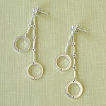 silver 2-Circle dangle (E094) - Circle - viv&ingrid