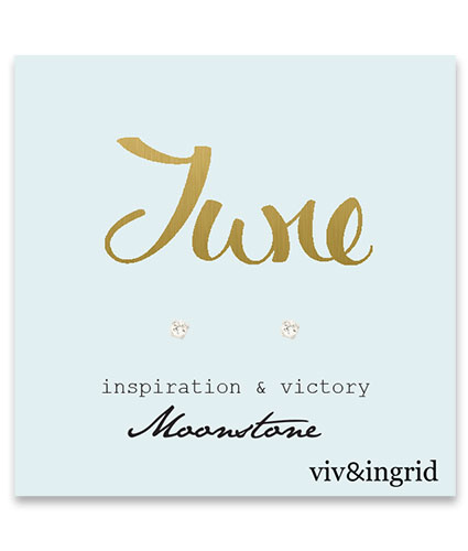 Birthstone calligraphy card june moonstone bs