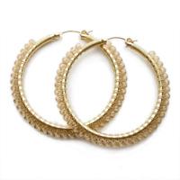 Viv & Ingrid large gold & light topaz Swarovski hoops
