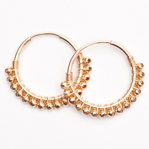 ".75"" Gold Metallic Skinny Wrap Hoop (E1361)<br>**BRIDES**"
