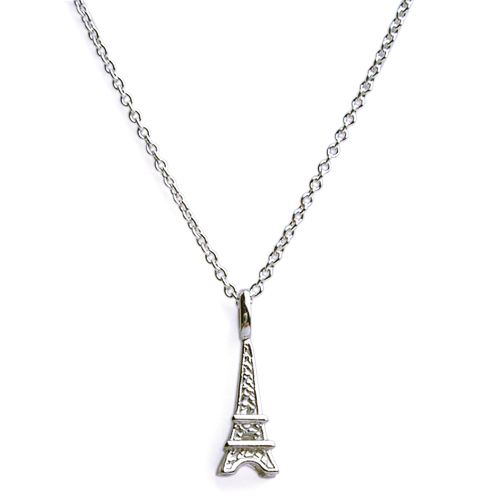 Eiffel tower charm necklace on chain n1127 aloadofball Images